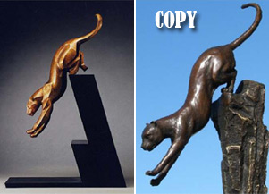 "The Leap. ""Milo"" copy from European Bronze"